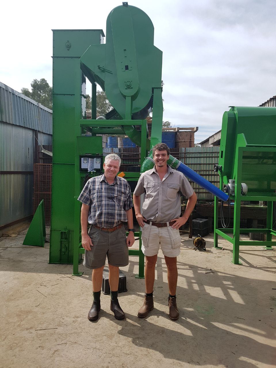 Collection of a Jumbo Grain Cleaner with extension frame by Farmer Mr Jaap Suurd